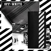 Off-White Leather Long Wallets