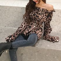 Leopard Patterns Casual Style Tops