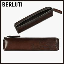 Berluti Calfskin Plain Leather Handmade Stationary