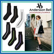 ANDERSSON BELL Unisex Street Style Plain Cotton Undershirts & Socks