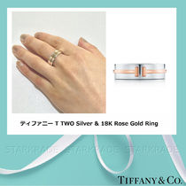 Tiffany & Co Tiffany T Blended Fabrics Silver Elegant Style Rings