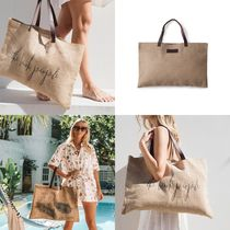 The Beach People Casual Style A4 Leather Handmade Totes