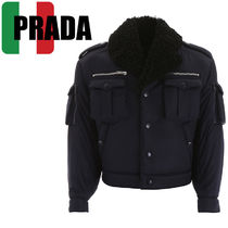 PRADA Short Plain MA-1 Bomber Jackets