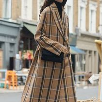 Stella McCartney Tartan Casual Style Wool Long Oversized Coats