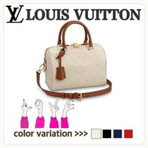Louis Vuitton SPEEDY Casual Style Unisex Blended Fabrics 2WAY Plain Shoulder Bags