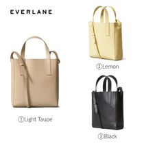 Everlane Casual Style Plain Leather Shoulder Bags