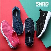 paperplanes Round Toe Rubber Sole Casual Style Unisex Slip-On Shoes
