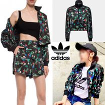 adidas Short Flower Patterns Unisex Street Style Oversized