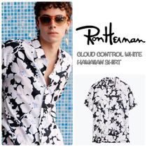 Ron Herman Tropical Patterns Unisex Cotton Short Sleeves Shirts