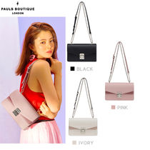Paul's Boutique Casual Style Studded Street Style Plain Shoulder Bags