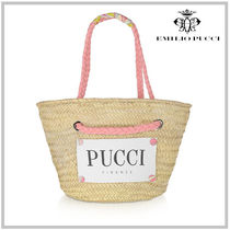 Emilio Pucci Casual Style Street Style 2WAY Plain Elegant Style Totes