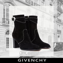 GIVENCHY Plain Block Heels With Jewels Elegant Style