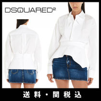 D SQUARED2 Casual Style Street Style Long Sleeves Plain Cotton