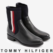 Tommy Hilfiger Stripes Plain Toe Casual Style Unisex Street Style Plain