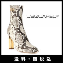 D SQUARED2 Square Toe Street Style Other Animal Patterns Leather
