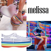 Melissa Platform Casual Style PVC Clothing Platform & Wedge Sneakers