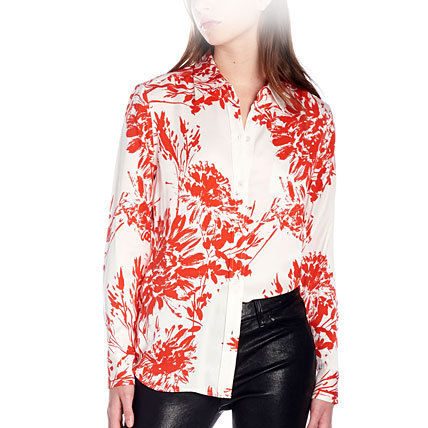 Flower Patterns Silk Street Style Shirts & Blouses