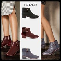 TED BAKER Plain Leather Elegant Style Ankle & Booties Boots