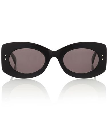 Studded Oval Sunglasses