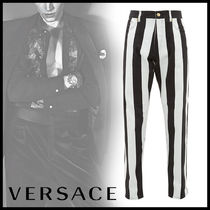 VERSACE Printed Pants Stripes Street Style Jeans & Denim
