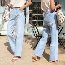Denim Street Style Plain Long Home Party Ideas