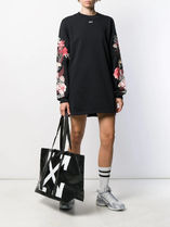 Off-White Casual Style Unisex Street Style A4 Totes