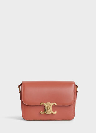 CELINE Triomphe Teen Triomphe Bag In Shiny Calfskin
