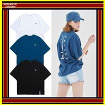 ROMANTIC CROWN Unisex Street Style Cotton Short Sleeves Oversized T-Shirts