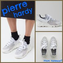 Pierre Hardy Round Toe Casual Style Plain Leather Low-Top Sneakers