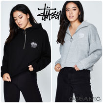 STUSSY Short Street Style Long Sleeves Cotton Cropped