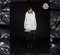 MONCLER Flower Patterns Blended Fabrics Long Sleeves Plain Long Lace