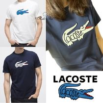 LACOSTE Unisex Plain Cotton Short Sleeves Logo T-Shirts