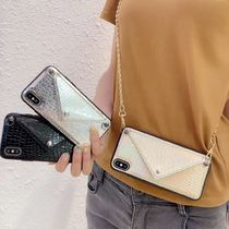 Faux Fur Street Style Chain Smart Phone Cases