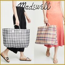 Madewell Gingham Casual Style 2WAY Totes