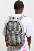 Urban Outfitters Unisex Faux Fur Street Style A4 Python Backpacks
