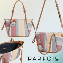 PARFOIS Stripes Casual Style Tassel 2WAY Totes