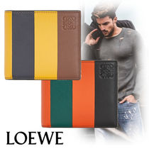 LOEWE Stripes Leather Folding Wallets