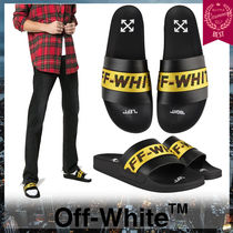 Off-White Unisex Street Style Shower Shoes Shower Sandals