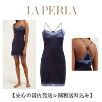 LA PERLA Silk Blended Fabrics Plain Slips & Camisoles