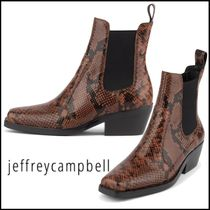 Jeffrey Campbell Square Toe Casual Style Other Animal Patterns Leather