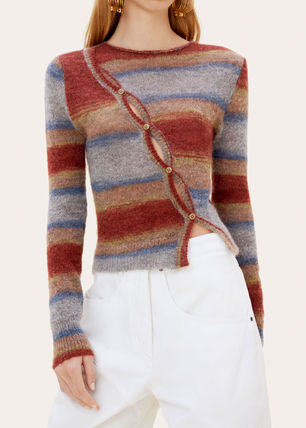 Stripes Wool Long Sleeves V-neck & Crew neck