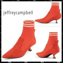 Jeffrey Campbell Stripes Casual Style Suede Blended Fabrics Plain