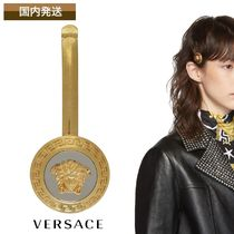 VERSACE Barettes Casual Style Brass Clips