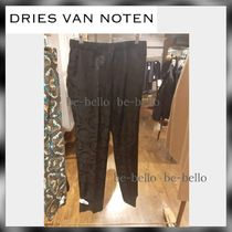 Dries Van Noten Tapered Pants Flower Patterns Tapered Pants