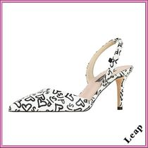 SJP by Sarah Jessica Parker Monogram Casual Style Leather Pin Heels Sandals Sandal