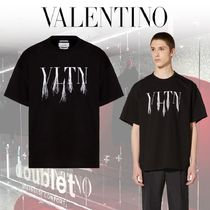 VALENTINO Crew Neck Pullovers Unisex Street Style Collaboration Plain