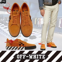 Off-White Stripes Suede Plain Handmade Sneakers