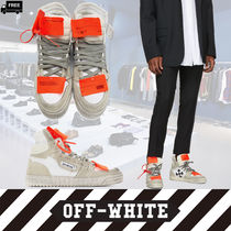 Off-White Suede Plain Handmade Sneakers