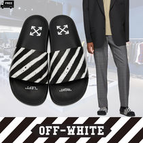 Off-White Stripes Handmade Shower Shoes Shower Sandals