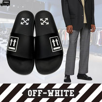 Off-White Plain Handmade Shower Shoes Shower Sandals